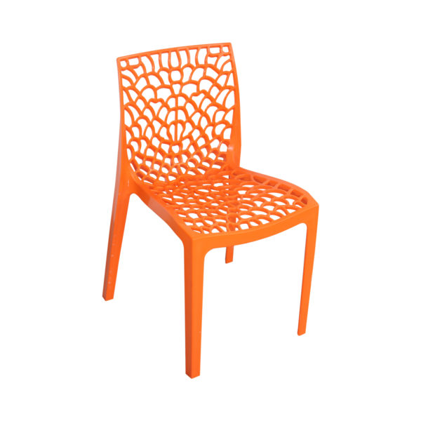 Spider designer chair orange
