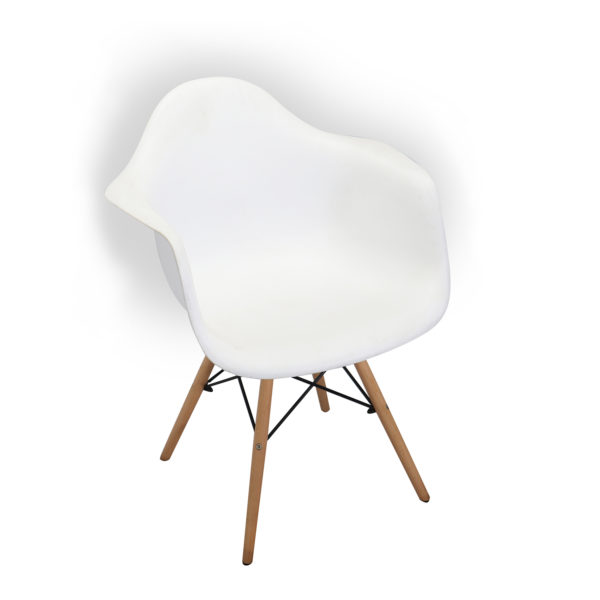 Baker White Casual Chair