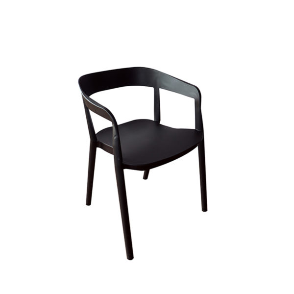 Missi Black Casual Chair by Langford
