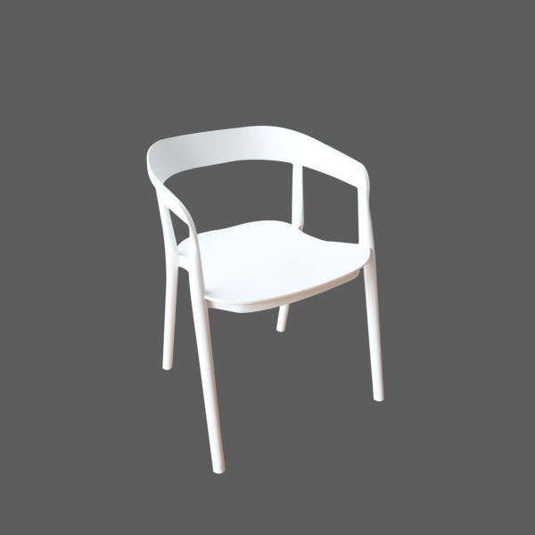Missi White Casual Chair by Langford