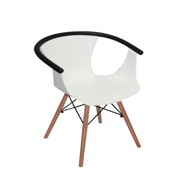 Clay White Casual Chair