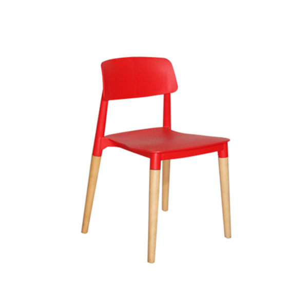 Jeff Cafe Chair Red By Skye Interio
