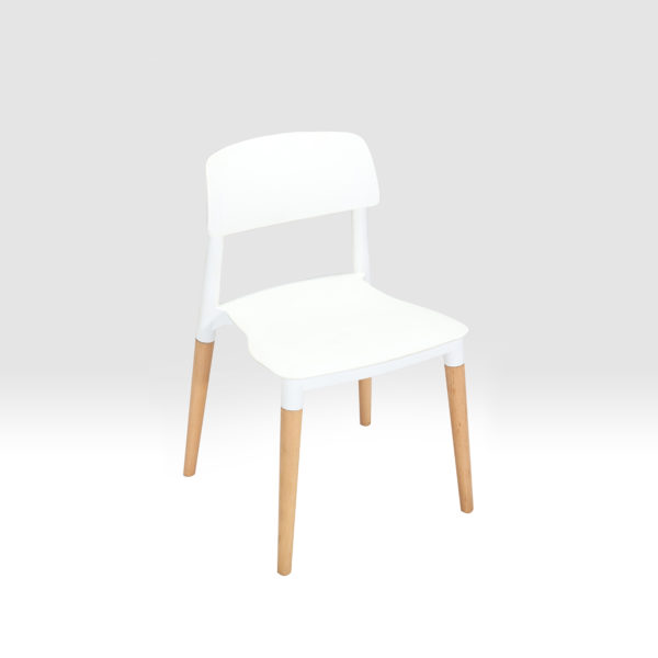 Jeff Cafe Chair White By Skye Interio