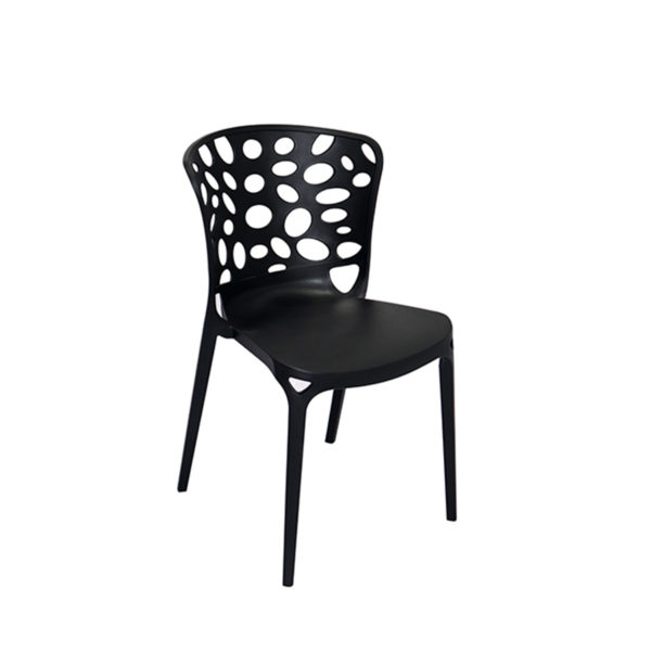 Amand Cafe Chair Black by Skye Interio