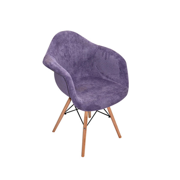 Zach Fabric Patched Chair Delux