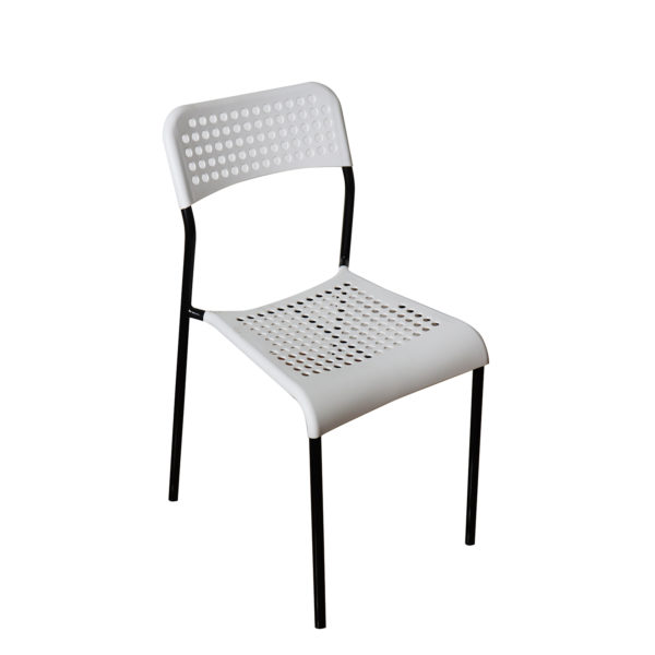 Doppler Black and White Chair by Skye Interio.