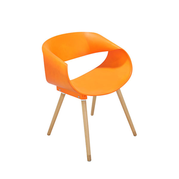 Tyler Casual Chair Orange by Langford.