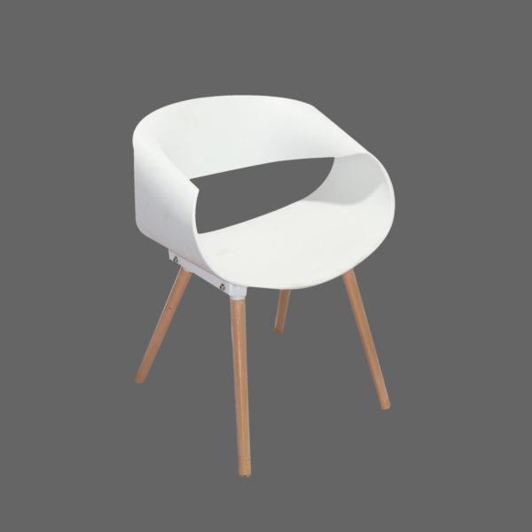 Tyler Casual Chair White by Langford.