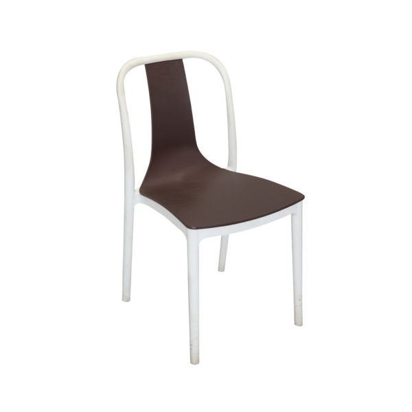 Vicari Cafe Chair Black and White