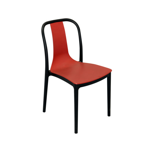 Vicari Cafe Chair Red and Blue