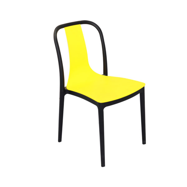 Vicari Cafe Chair Yellow and Blue