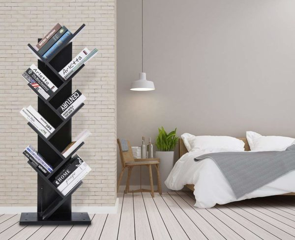 Tree Bookshelf Black by Skye Interio.