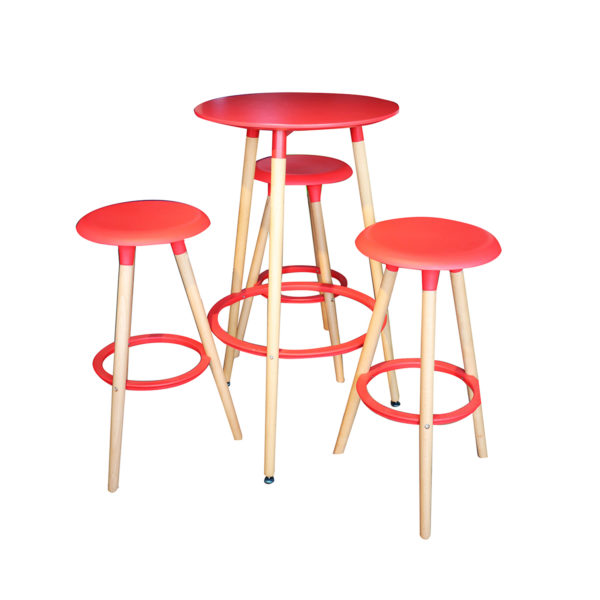 Jaden Counter Table Set Red