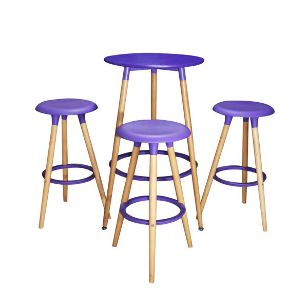 Jaden Counter Table Set Violet