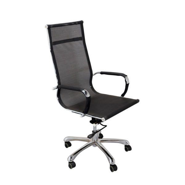 Dong High Back Revolving Chair Black by Offx