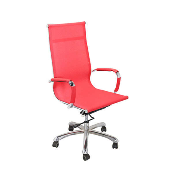 Dong High Back Revolving Chair Red by Offx