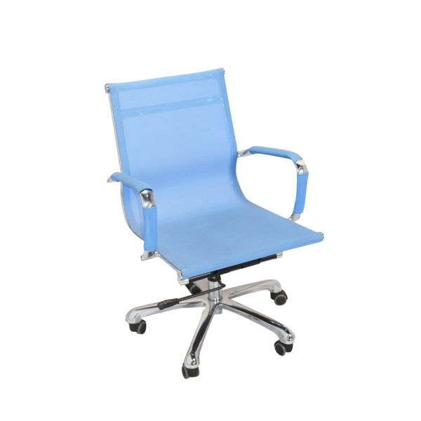Dong Medium Back Revolving Chair Blue by Offx