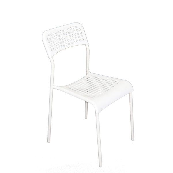 Doppler White Chair by Skye Interio.