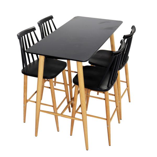 Zuku Counter Table Set Black by Skye Interio.