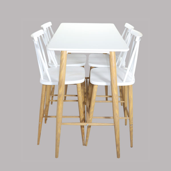 Zuku Counter Table Set White by Skye Interio.