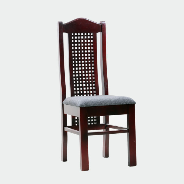 Uzo Dining Chair Mahogany by Neel Furniture
