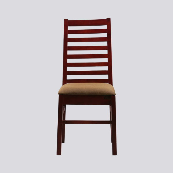 Ladd Dining Chair Mahogany Wood by Nache Woods.