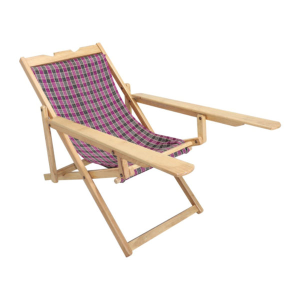 Easy Chair Mahogany wood Cloth