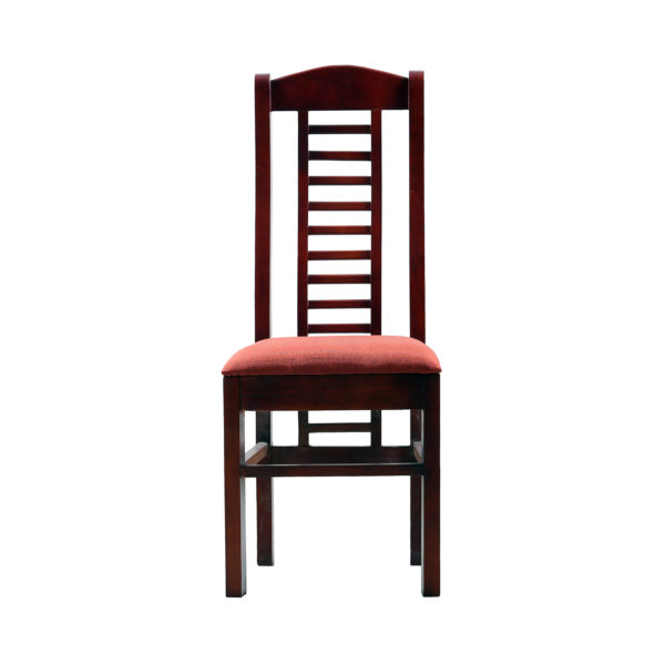 Aglee Cushion seat Dining Chair Mahogany Wood by Nache Woods.