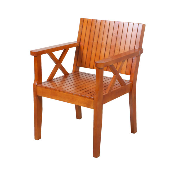 Benchy Mahogany wood Chair by Neel Furniture