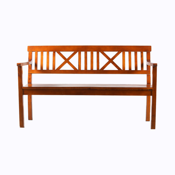 Cross 3-Seater bench Teak Wood.