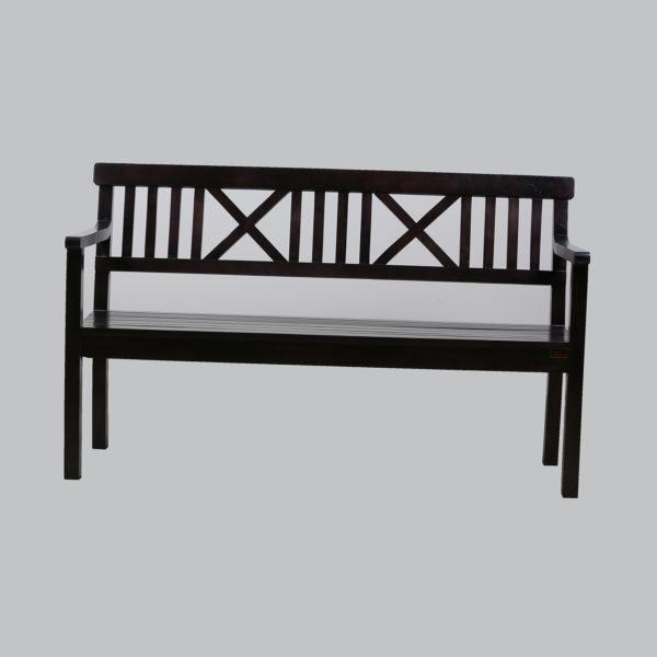 Cross 3-Seater bench Mahogany Wood.