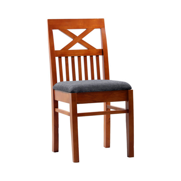 Cross Dining Chair Mahogany Wood by Ansne Furniture.