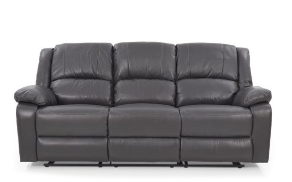 Gunn Recliner Three-Seater With Leatherette