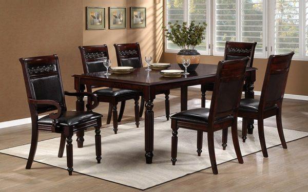 Alim 6 Seater Solidwood Dining Set.
