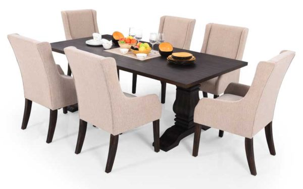 Badus 6 Seater Solidwood Dining Set.