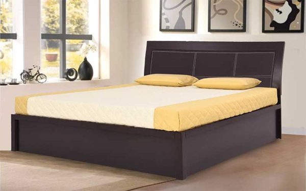 Hera King Size Bed With Hydraulic Storage and Melamine Finish