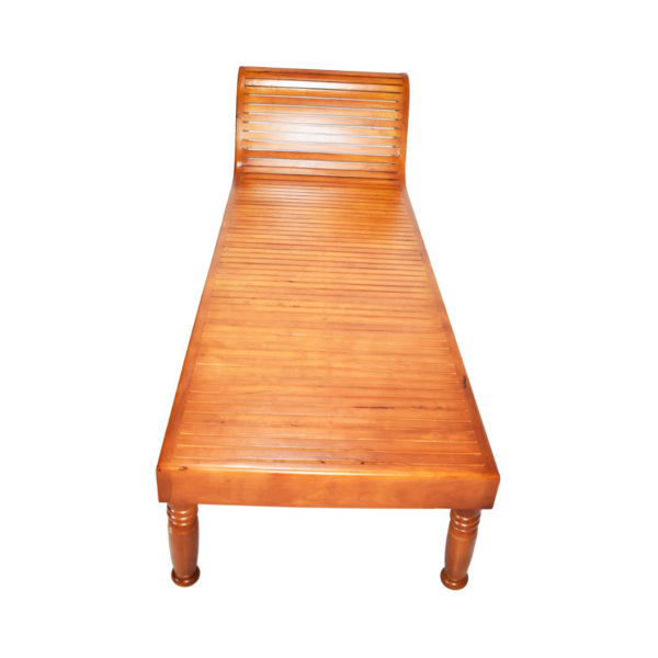 Simple Diwan Cot  Mahogany Wood Chaise Lounger