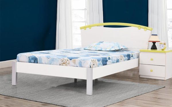 Javier Single Bed without Storage in High Gloss Finish