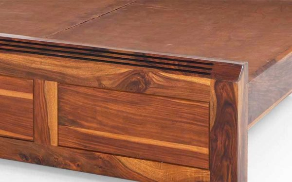 Jesse Queen Size Bed Without Storage in Sheesham Wood