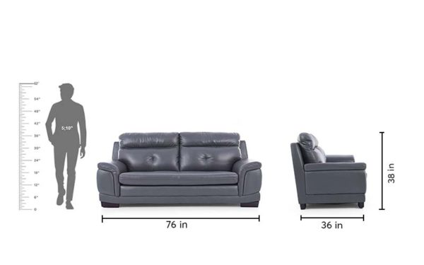 Maeve Three Seater Sofa in Leatherette