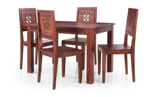 Mannu 4 Seater Solid Wood Dining Set