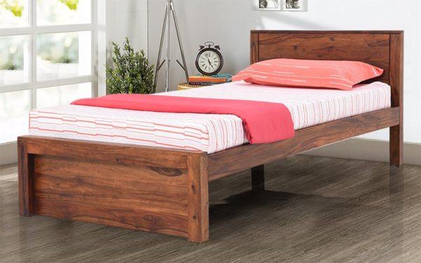 Maura Single Bed Without Storage in Sheesham Wood