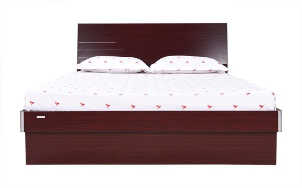 Nesta Queen Size Bed with Hydraulic Storage and Melamine Finish