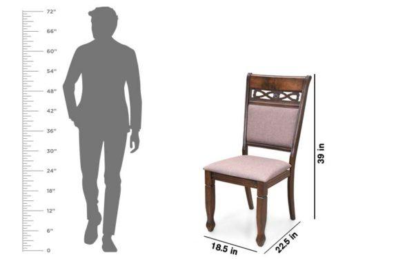 Niya 6 Seater Solid Wood Dining Set.