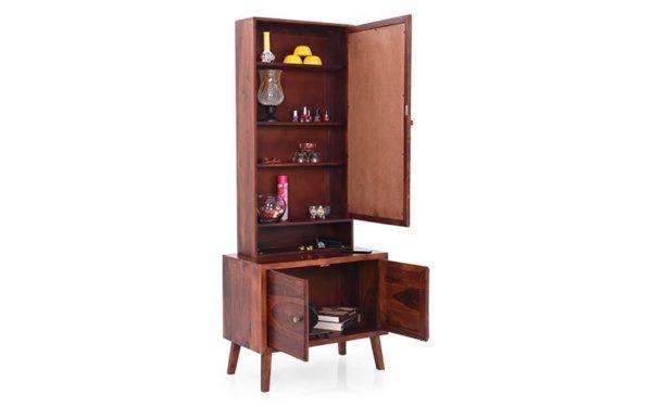 Aduba Dresser With Storage and Mirror in Sheeshamwood