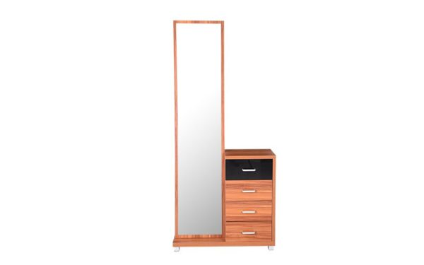 Asriel Dresser with Storage Full Length Mirror and Melamine Finish