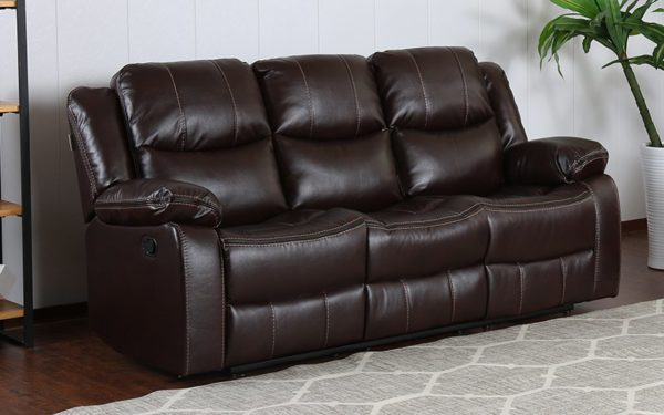 Badger Three Seater Manual Recliner With Leatherette