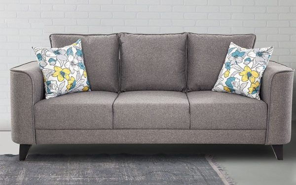 Burset Three Seater Sofa In Fabric