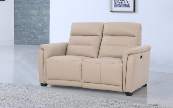 Clay Two Seater Power Motion Recliner With Genuine Leather