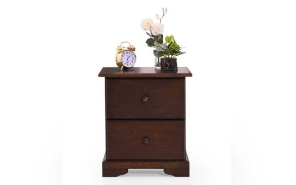 Frida Side Table With Drawers in Solidwood